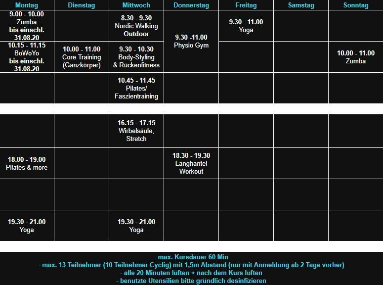 Sepps Fitness Haibach Aerobic 27.07.20